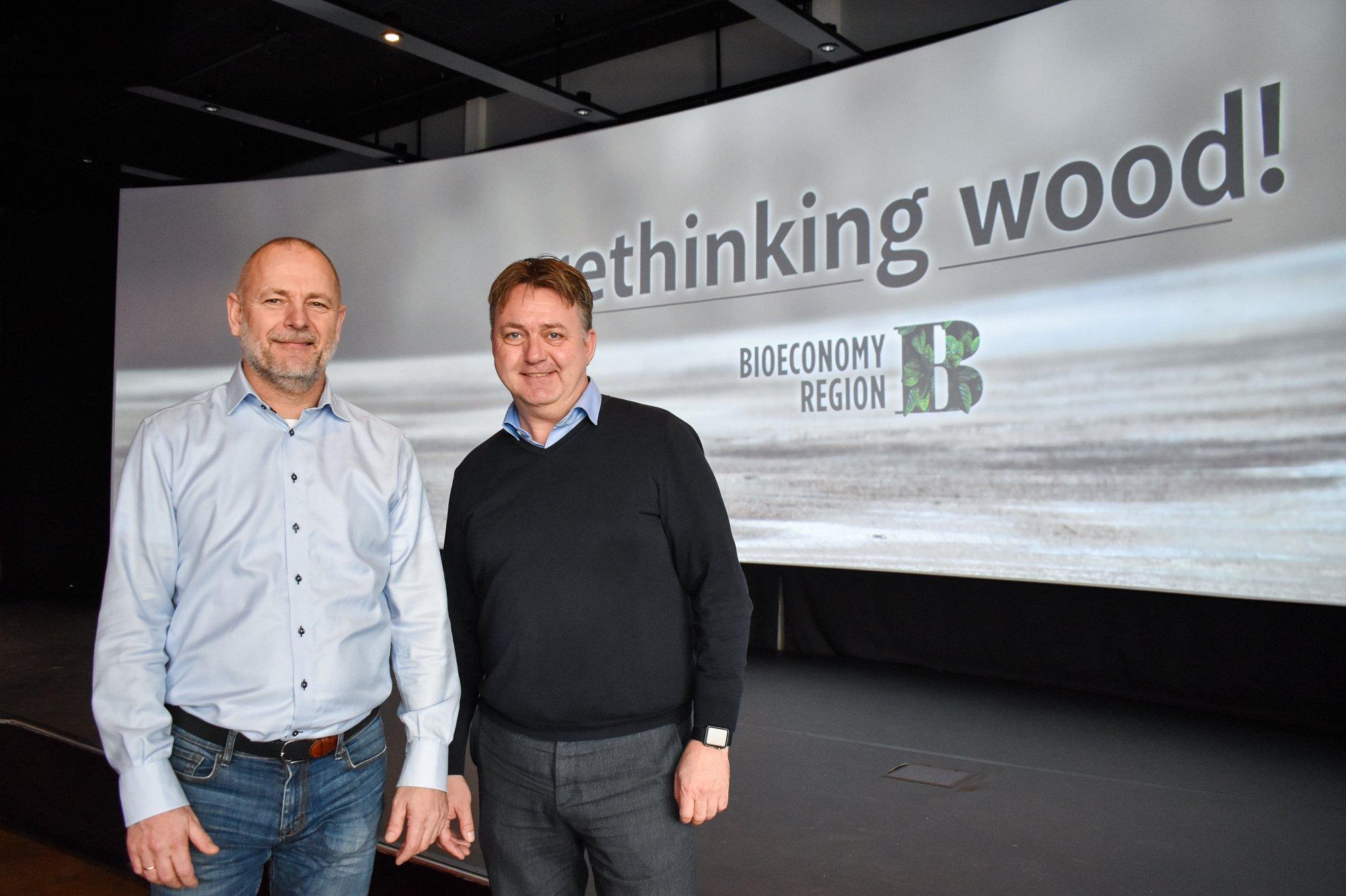 Espen André Johansen i HPH Byggentreprenør AS og Morten Skinnarmo. Han er markedssjef i APX Systems