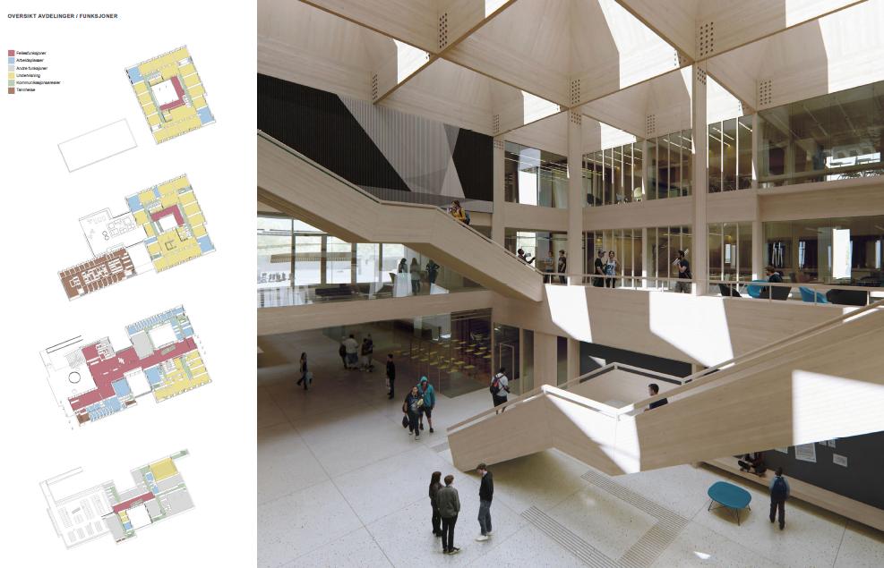 St. Olav videregående skole i Sarpsborg planlegges bygget med tre i bærende konstruksjoner