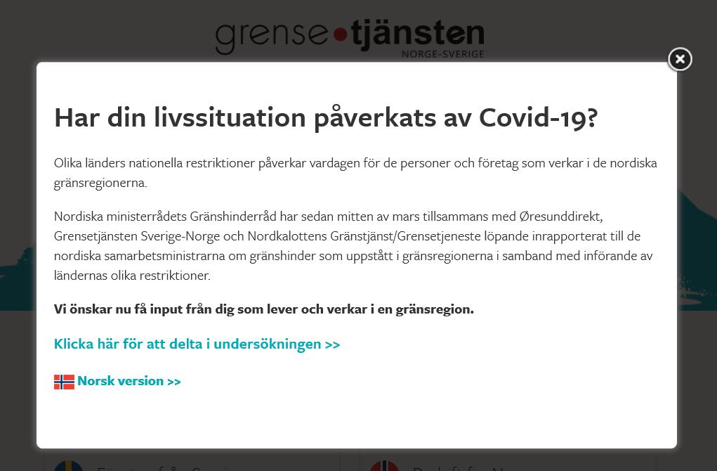 Undersökning om hur Covid-19 har påverkat din livssituation