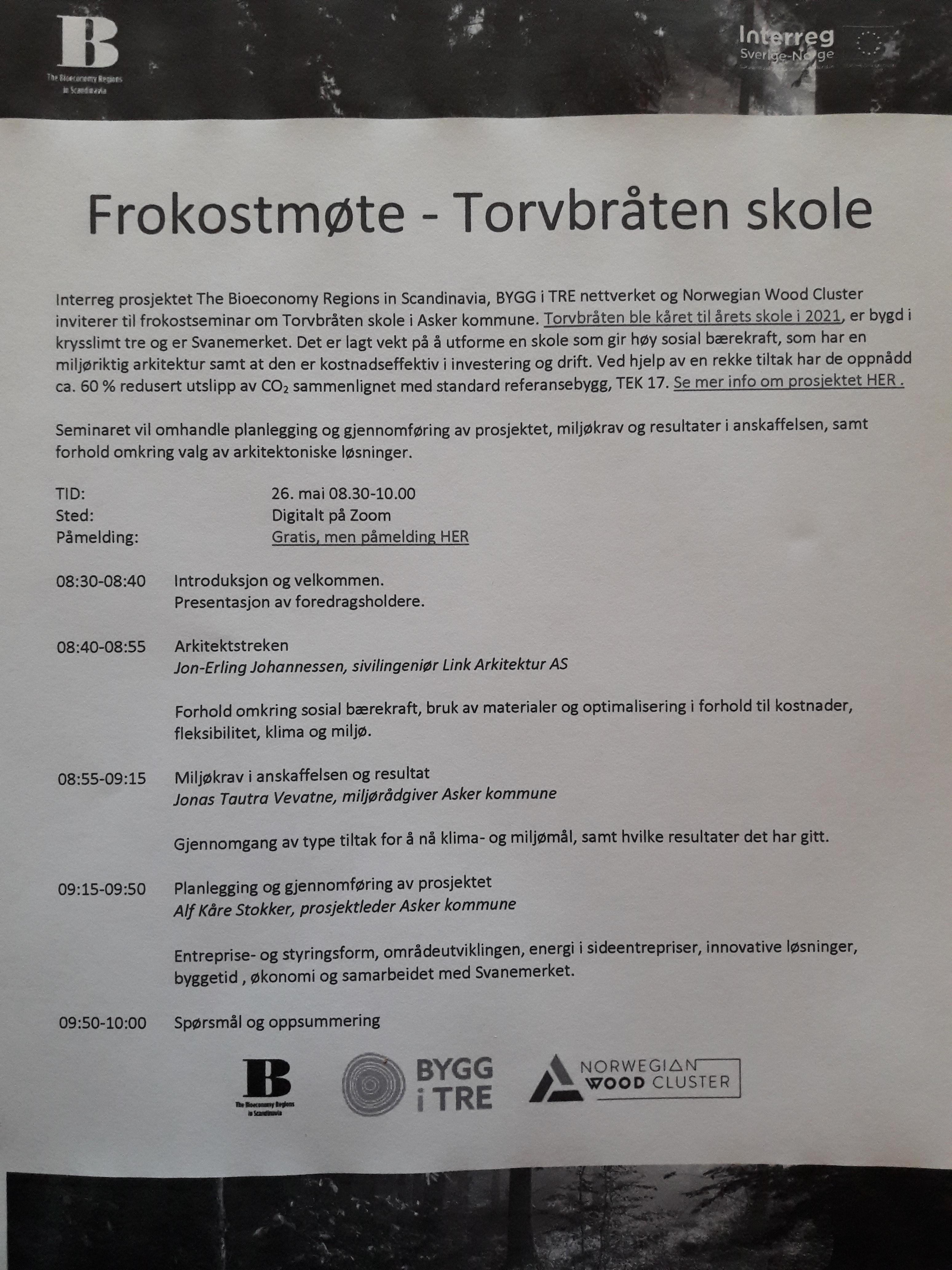 Frokostwebinar Torvbråten skole